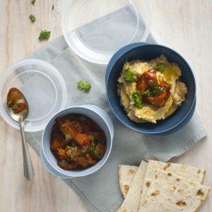 Hummus och auberginegryta
