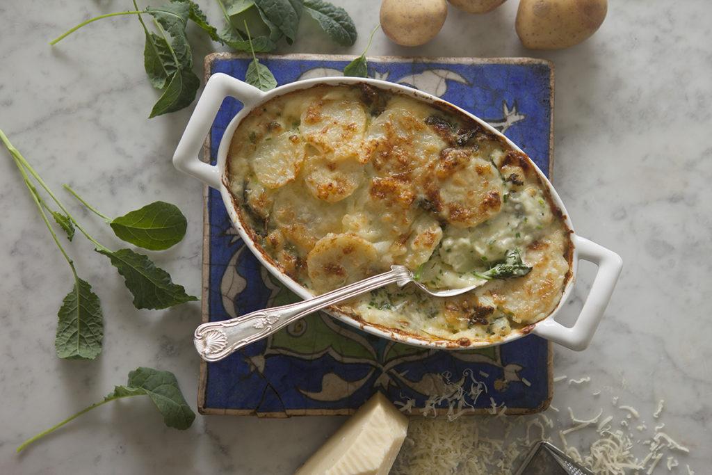 Potatis- och Svartkålsgratäng