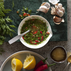 Asiatisk Dill- och chilidressing