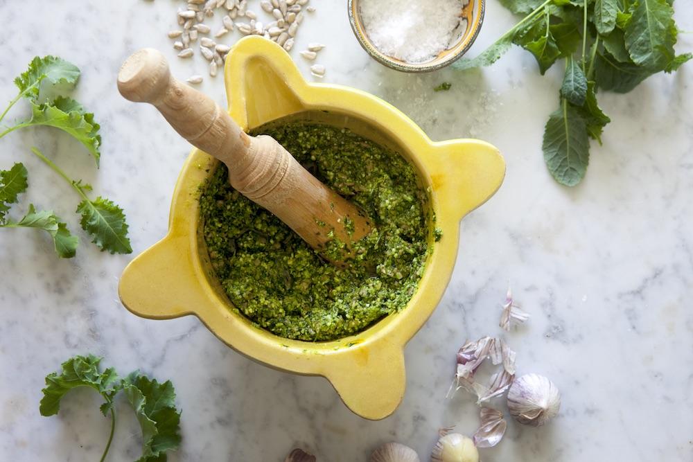 Pesto på Svartkål och Grönkål