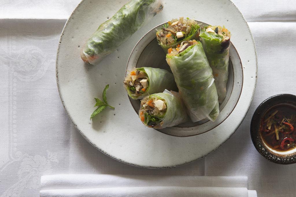 färska vårrullar vegetariska