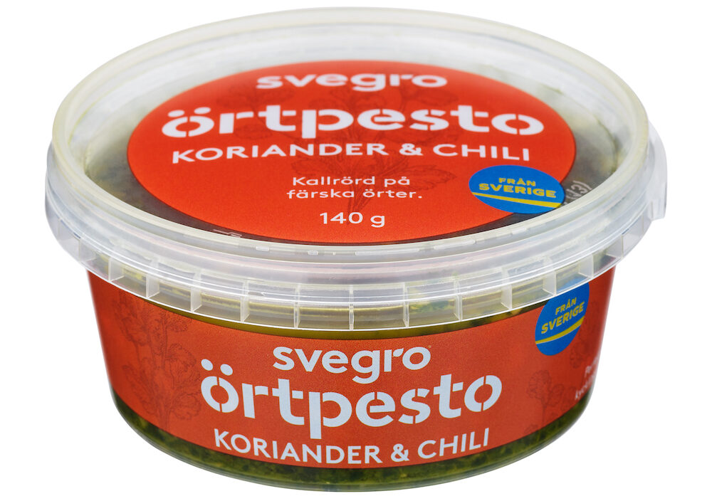 Örtpesto Produktbild Koriander Chili
