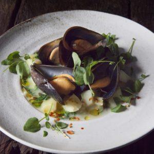 Potatis- och musselsoppa