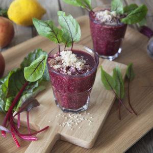 Matig juice med Röd Mangold, Ängssyra och quinoa