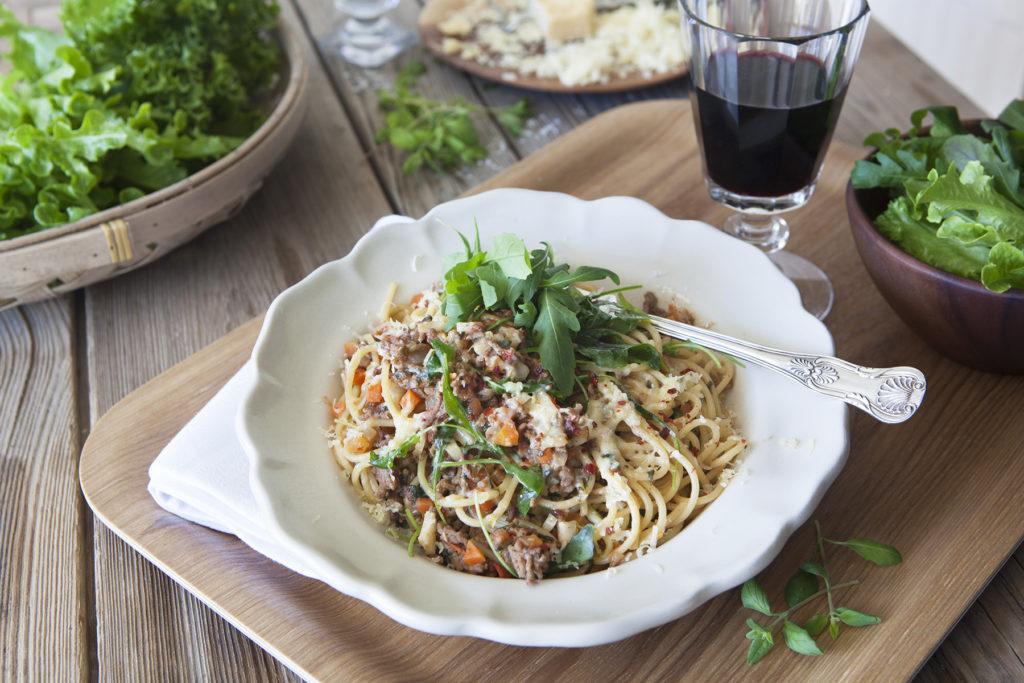 Svegros urgoda spagetti och köttfärssås