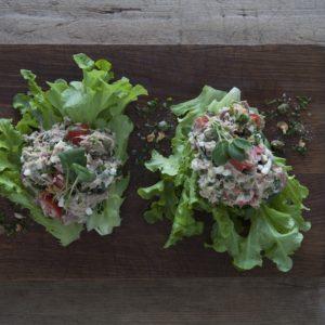 Vårsallad med tonfiskröra, Krasse och Grönsallat