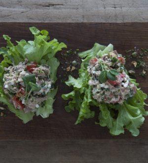 Vårsallad med tonfiskröra, Krasse och Kaskadsallat