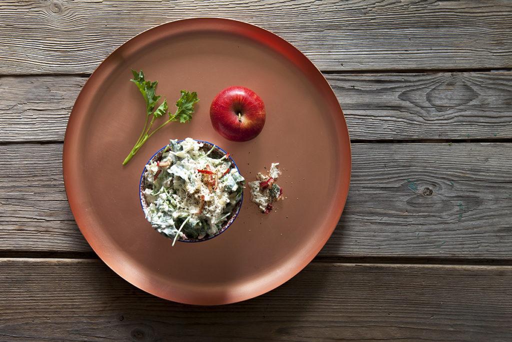 Grönkål- och äppelyoghurt