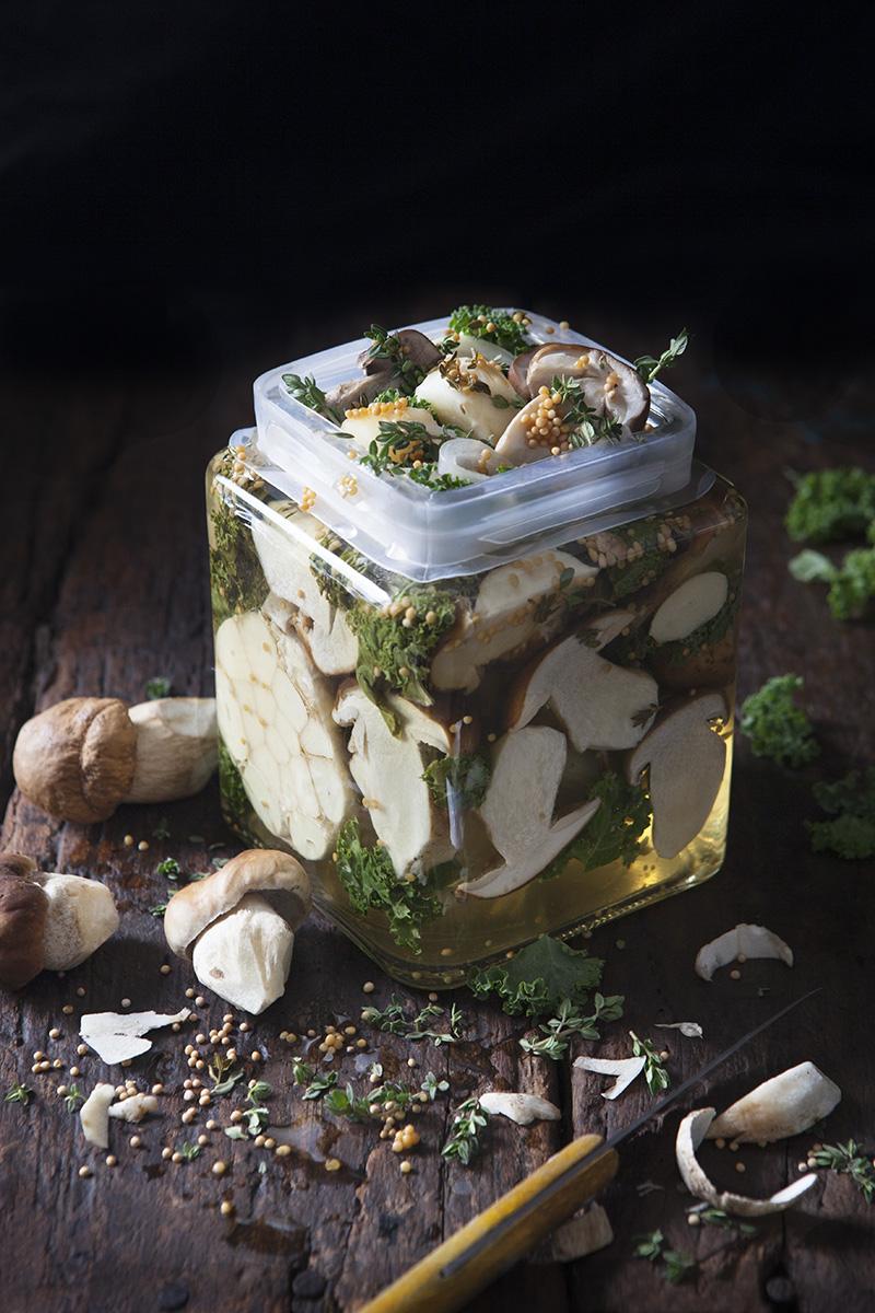 Picklad svamp med Grönkål och Timjan
