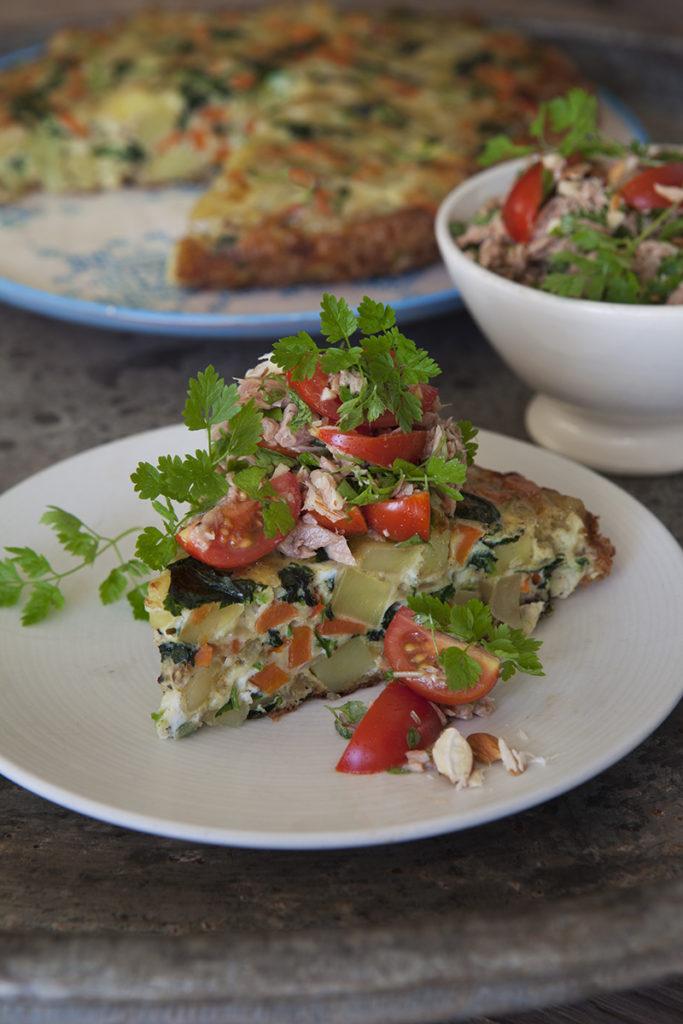 Potatis-, Morot- och Svartkålsfrittata med tonfisk