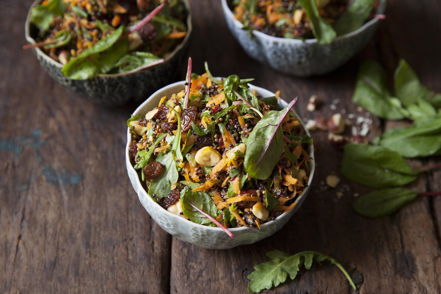 Morotssallad med quinoa
