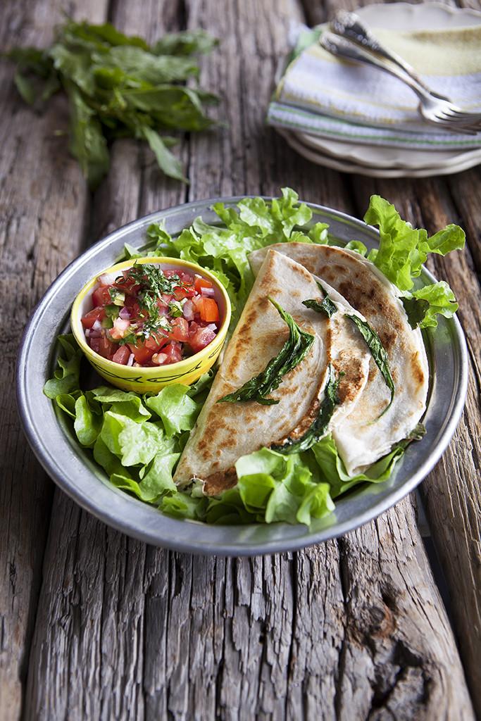 Quesadillas med Citronmålla och salsa pico de gallo